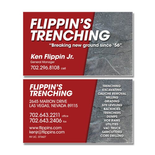 Business cards website design and development flippins trenching reheart Images
